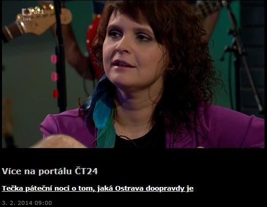 Czech TV – ČT24 – Tečka páteční noci