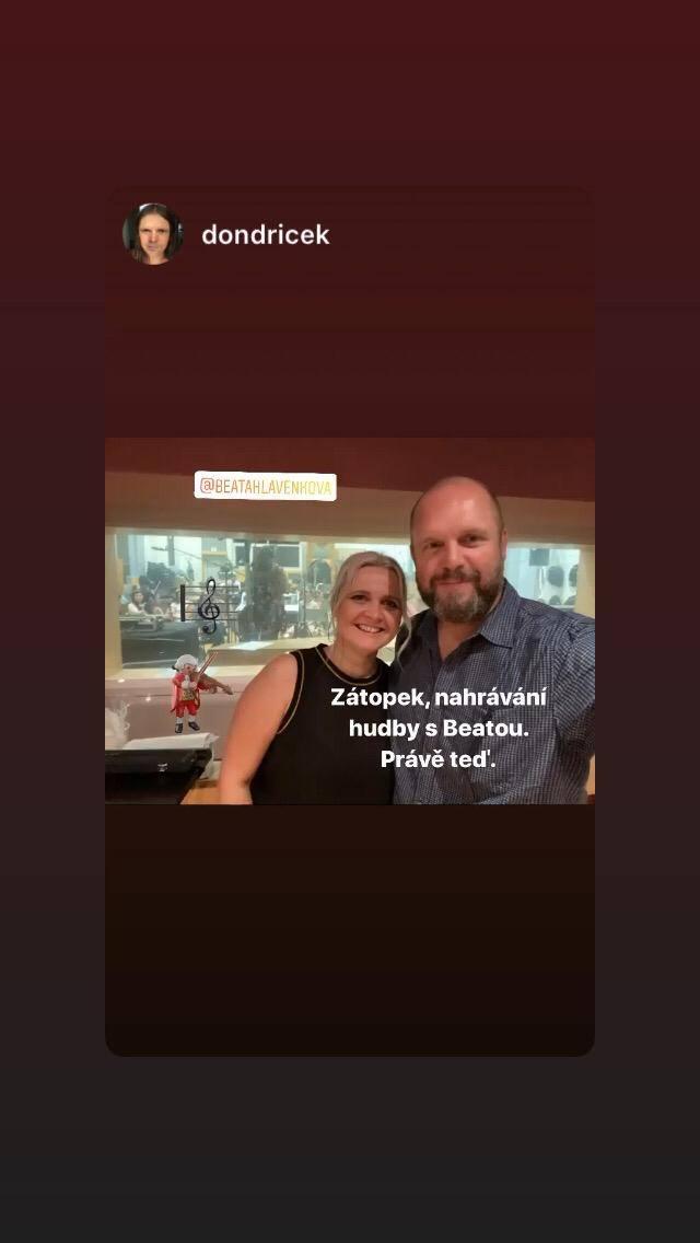 Po natáčení orchestru ve studiu na Kavčích horách, s režisérem připravovaného filmu Zátopek, Davidem Ondříčkem